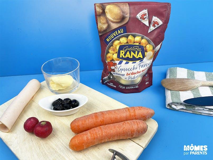 Rassembler les ingrédients de la recette
