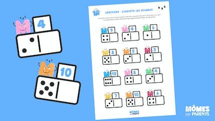 Additions : complète les dominos