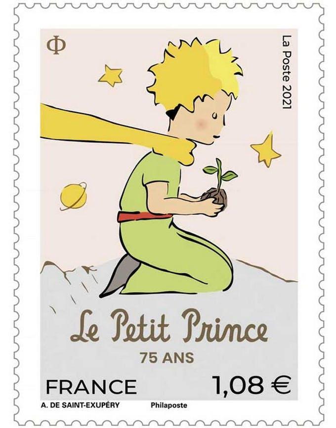 timbre Le Poste 75 ans Le Petit Prince