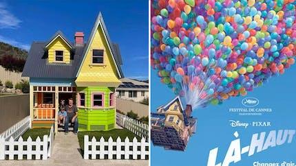 Un papa construit la maison du film d'animation Là-Haut pour son fils