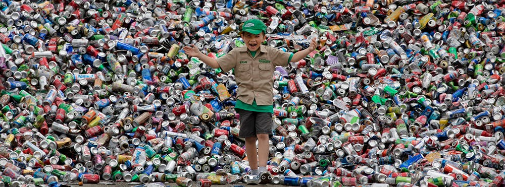 11 ans ryan hickman entreprise recyclage canettes bouteilles