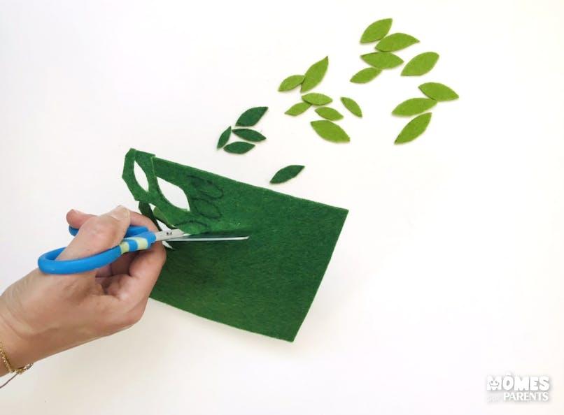 Faire des feuilles en feutrine
