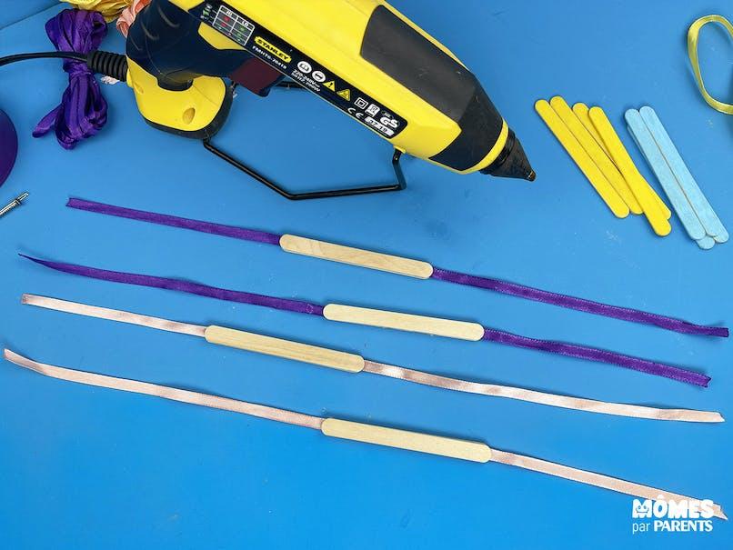 Coller les bâtonnets