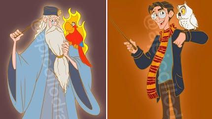Quand les personnages Disney rencontrent le monde d'Harry Potter