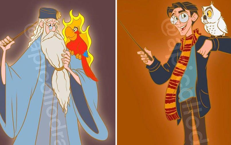personnages Disney deviennent des héros d'Harry Potter