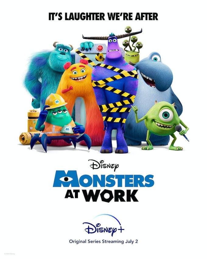 série Monstres & Cie : Au travail Disney+ Monsters at Work affiche