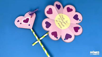 Fleur de cœurs à offrir