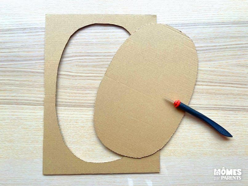 Découper 4 ovales