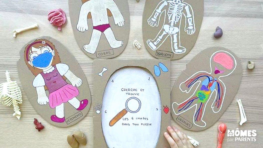 Jeu cherche et trouve : découvrir le corps humain (inspiration Montessori)