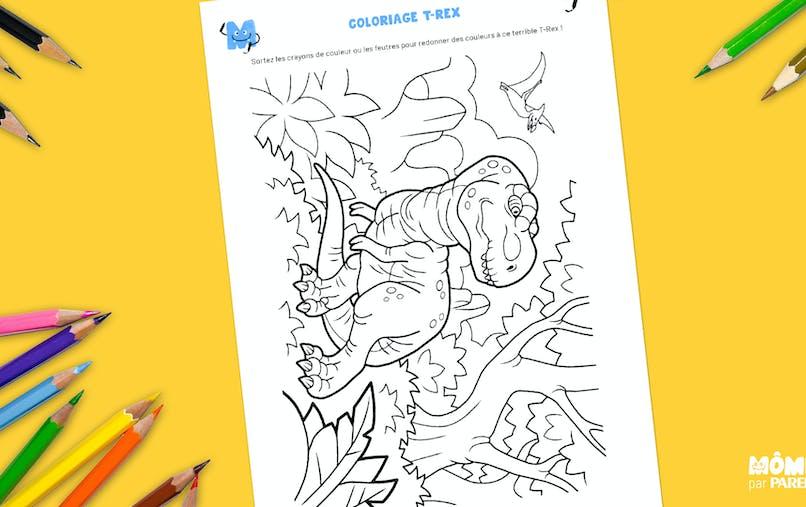 Coloriage T-Rex à imprimer