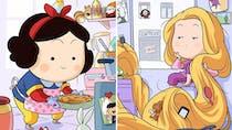 Les dessins des Princesses Disney en quarantaine !