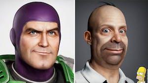 Il réalise en 3D les portraits de personnages célèbres