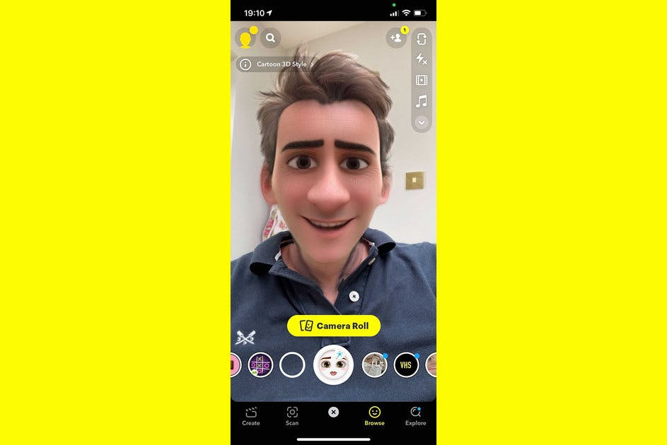 filtre snapchat personnage Disney