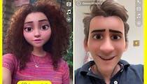 Snapchat lance un filtre qui transforme en personnage Disney !