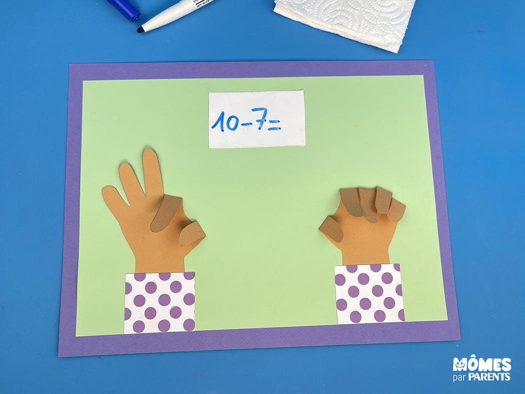 DIY Set pour apprendre à compter sur les mains Soustraction