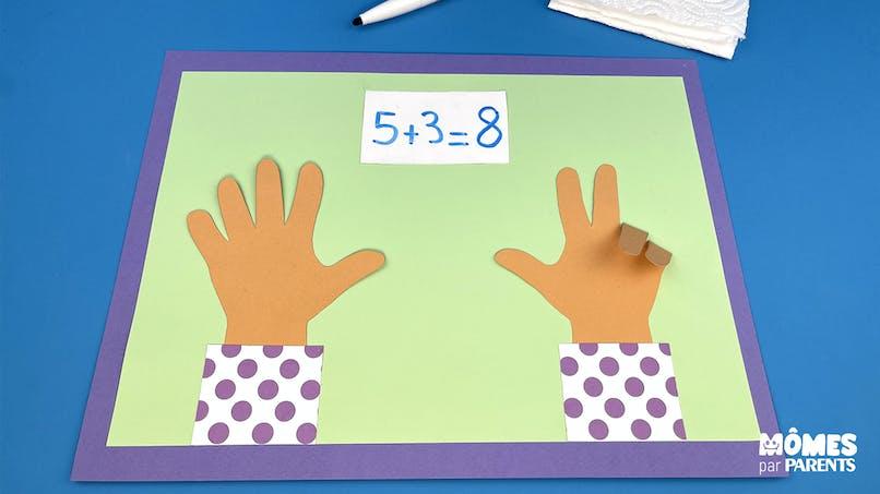 DIY Set pour apprendre à compter sur les mains