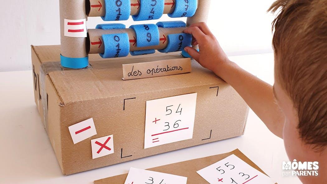 DIY : Apprendre les additions / soustractions avec les cylindres de calcul
