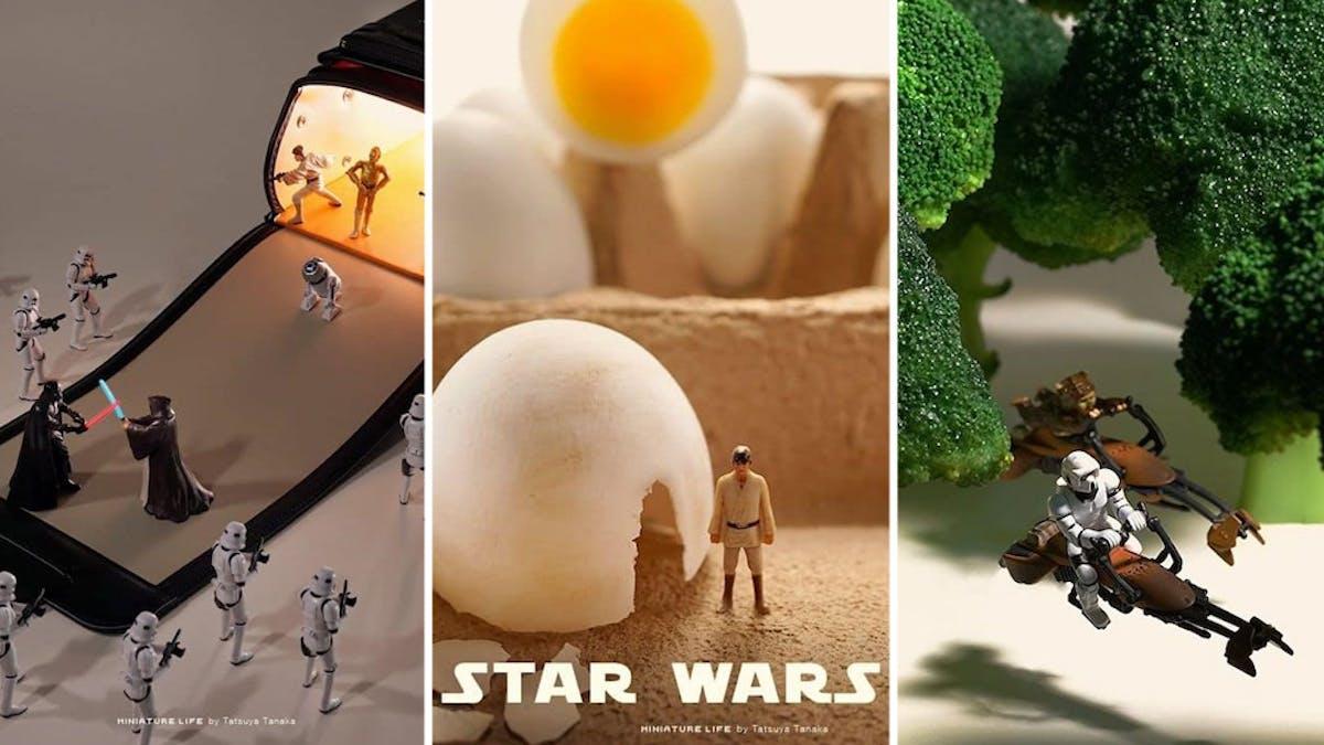 Star Wars scènes miniatures Tatsuya Tanaka