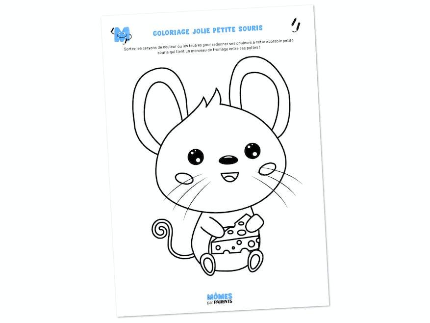 Coloriage jolie petite souris