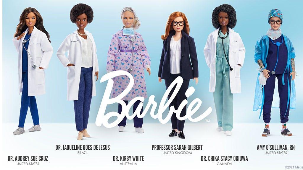 poupées Barbie en hommage aux femmes scientifiques qui luttent contre la Covid-19