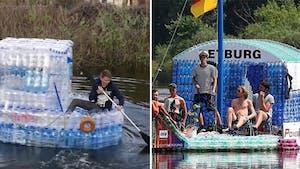 De vrais bateaux fabriqués avec des bouteilles en plastique