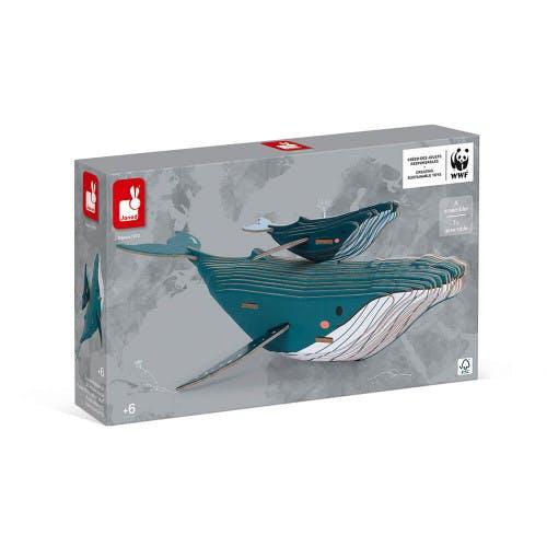 Puzzle 3D baleine Janod WWF à gagner sur momes.net