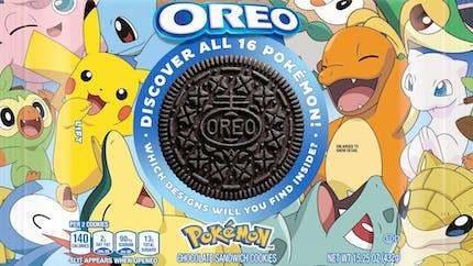 Oreo lance une édition spéciale de biscuits Pokémon