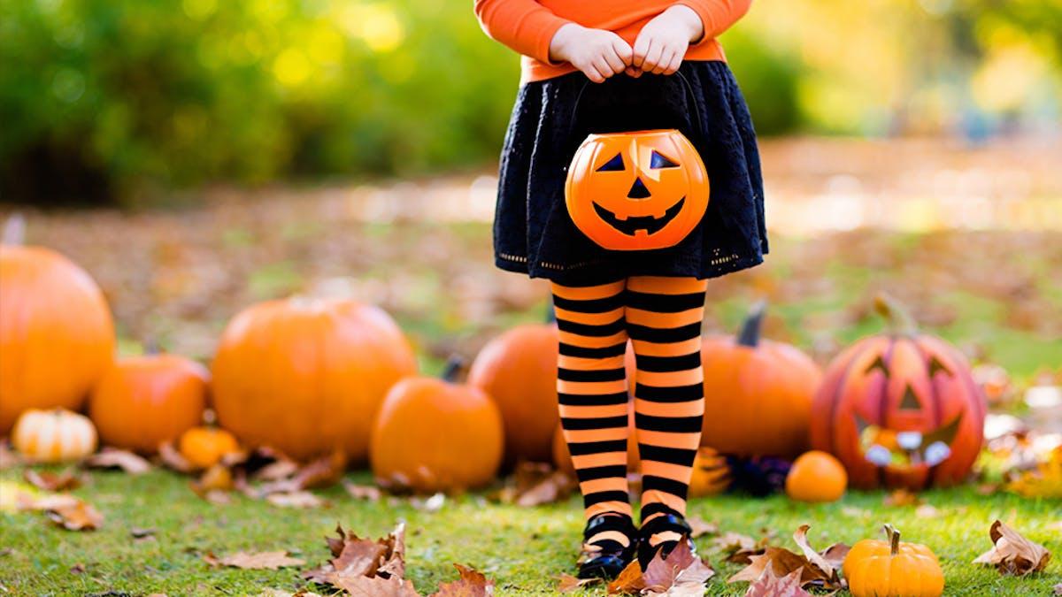 Halloween citrouille sorcière bonbons