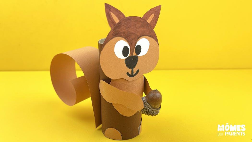 DIY : Petit écureuil en rouleau cartonné
