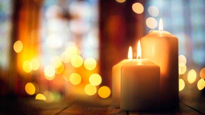 La Toussaint bougies