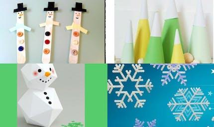 DIY: bonhomme de neige, boule à neige et autre sapin