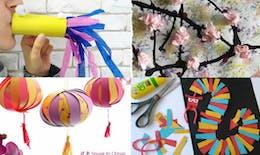 20 idées de bricolage et d'activité autour du Nouvel An chinois