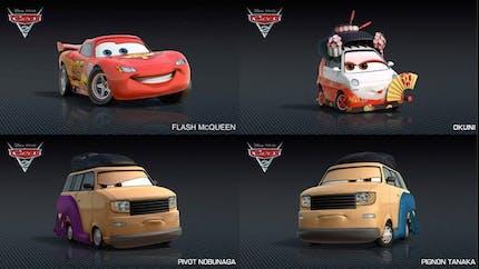 Les nouveaux personnages de Cars 2