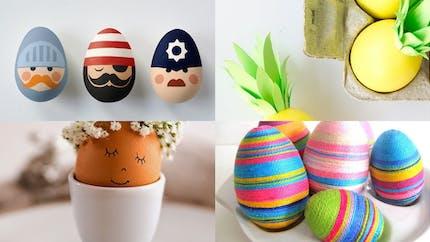 12 jolies idées de décoration sur oeuf de Pâques