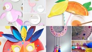 20 idées de bricolages avec des assiettes en carton