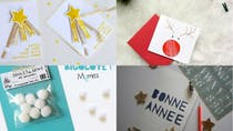 DIY : cartes de vœux « Nouvel An » à réaliser avec les enfants