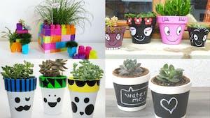 DIY enfants : des pots de fleurs à croquer