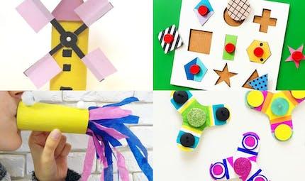 DIY: jeux et jouets en carton à faire avec les enfants