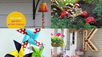 20 idées déco pour le jardin à faire avec les kids