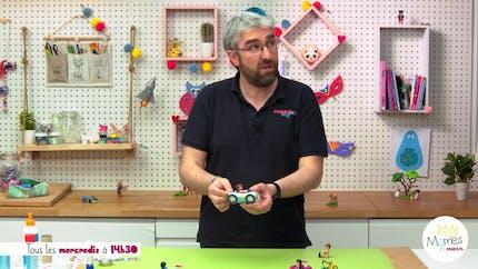 Vidéo - Replay - Mômes Part en Live - tuto voiture de course pour Playmobil