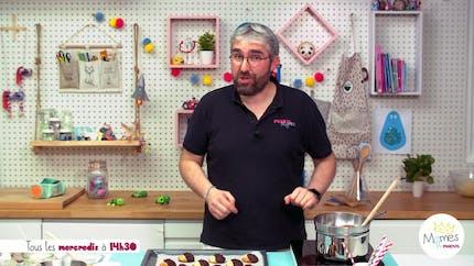 Vidéo - Replay - Mômes Part en Live - recette de biscuits hérissons au chocolat