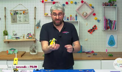 Vidéo - Replay - Mômes Part en Live - tuto figurine pantin articulé