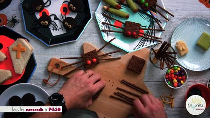 Vidéo - Replay - Mômes Part en Live - recettes pour un goûter d'Halloween