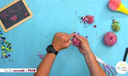 Vidéo - Replay - Mômes Part en Live - porte-clés à fabriquer