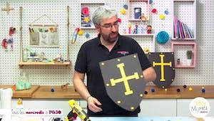 Vidéo - Replay - Mômes Part en Live - Bricolage d'un bouclier chevalier