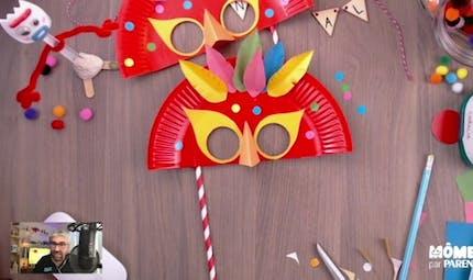 Vidéo - Replay - Mômes Part en Live - masque carnaval en carton