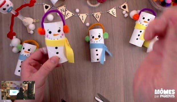 Vidéo - Replay - Mômes Part en Live - bonhomme de neige en rouleau de papier toilette