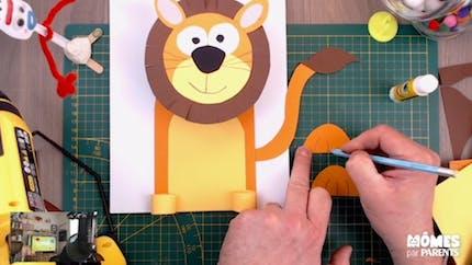 Vidéo - Replay - Mômes Part en Live - bricolage lion 3D en papier