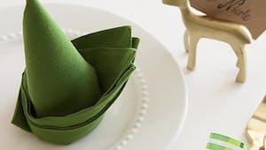 Vidéo : 10 pliages de serviettes pour une table de Noël ou Nouvel An