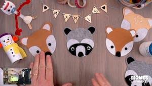 Vidéo - Replay - Mômes Part en Live - dessous de tasse/verre animaux en feutrine